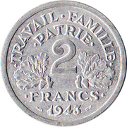 2 francs Francisque -  revers