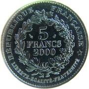 5 francs Marianne de Champlain -  revers