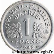 1 franc Francisque (Aluminium-magnésium, lourde (1,6g)) -  revers