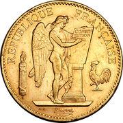 100 francs Génie (tranche Dieu Protège la France) – avers