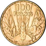 100 francs Bazor – revers