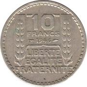 10 francs Turin (grosse tête) -  revers
