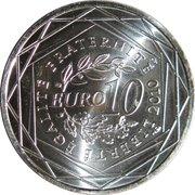 10 euros Bourgogne (1er type) -  revers