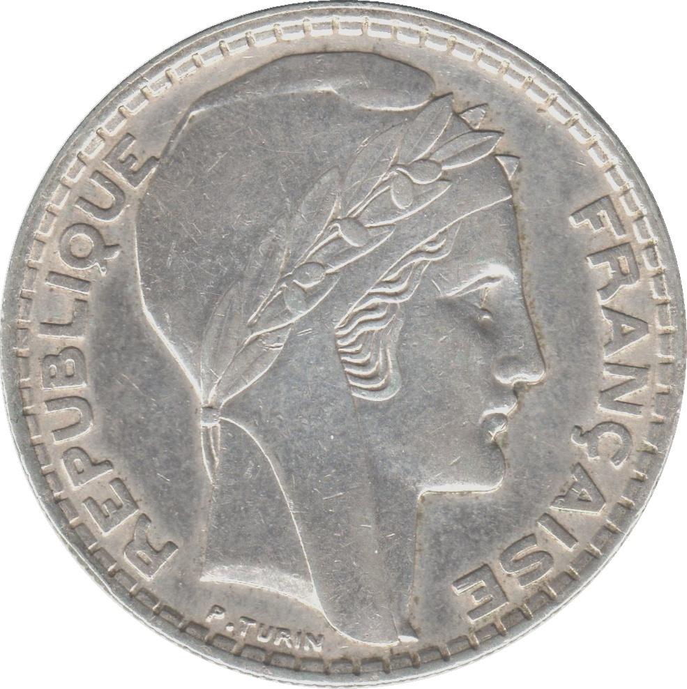 20 Francs Turin Argent France Numista