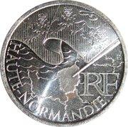 10 euros Haute-Normandie (1er type) -  avers
