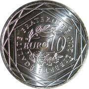 10 euros Haute-Normandie (1er type) -  revers