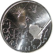 10 euros Lorraine (1er type) -  avers