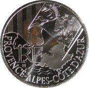 10 euros Provence-Alpes-Côte d'Azur (1er type) -  avers