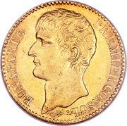40 francs  Bonaparte Premier consul -  avers