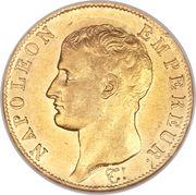 40 francs Napoléon Empereur (tête nue - calendrier grégorien) -  avers