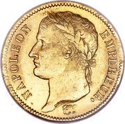 40 francs  Napoléon Empereur (tête laurée - Empire français) -  avers