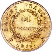 40 francs  Napoléon Empereur (tête laurée - Empire français) -  revers
