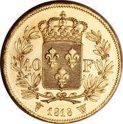 40 Francs - Louis XVIII -  revers