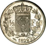 ½ franc Charles X -  revers