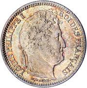 2 francs Louis Philippe -  avers
