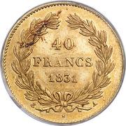 40 Francs - Louis-Philippe 1er -  revers