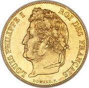 20 francs Louis-Philippe Ier  (tête laurée) -  avers