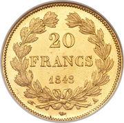 20 francs Louis-Philippe Ier  (tête laurée) -  revers