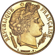20 francs Cérès (IIème République) -  avers