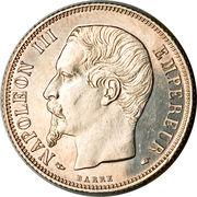 1 franc Napoléon III (tête nue) -  avers