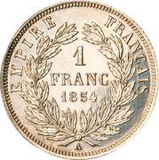 1 franc Napoléon III (tête nue) -  revers