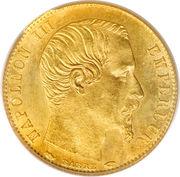 5 francs or Napoléon III (Tête nue, petit module) -  avers