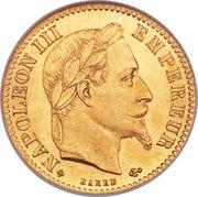 10 francs Napoléon III (tête laurée) -  avers