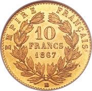 10 francs Napoléon III (tête laurée) -  revers