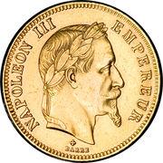 100 francs  Napoléon III (tête laurée) -  avers