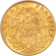 5 francs Napoléon III (tête laurée) -  revers