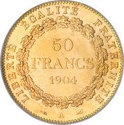 50 francs   Génie -  revers