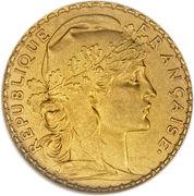 20 francs Coq (Dieu protège la France) -  avers