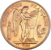 100 francs or Génie (Tranche Liberté Egalité Fraternité) – avers