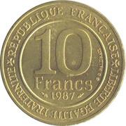10 francs Millénaire capétien -  revers