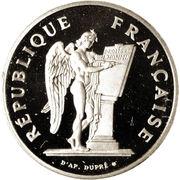 100 francs Droits de l'homme (platine) -  avers