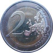 2 euros Fête de la musique -  revers
