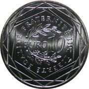 10 euros Guyane (2e type) -  revers