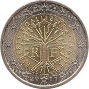 2 euros (2e carte) -  avers