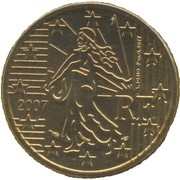 50 cents d'euro (2e carte) -  avers