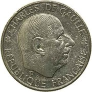 1 franc De Gaulle (Nickel) -  avers