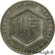 1 franc De Gaulle (nickel) -  revers