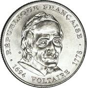 5 francs Voltaire -  avers