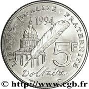 5 francs Voltaire -  revers