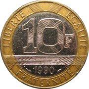 10 francs Génie de la Bastille -  revers