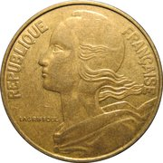 20 centimes Marianne -  avers
