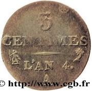 3 centimes Dupré -  revers