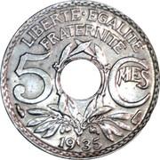 5 centimes Lindauer (Cupronickel, petit module) -  revers