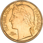 100 francs (Essai de Abel Lafleur) – avers