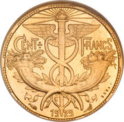 100 francs (Essai de Abel Lafleur) – revers