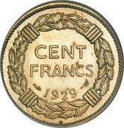 100 francs (Essai de André-Marie Lavrillier) – revers